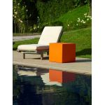 PETITE TABLE CARREE KUBE 50 CM ORANGE (cm. 50 x 50 x 50 h)