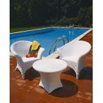TABLE OASIS 50 CM Blanc (cm. 68 x 50 h)